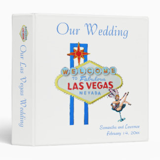 Our Las Vegas Wedding 3 Ring Binder