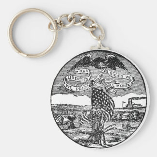 Our Liberties We Prize, Rights We Maintain Keychain