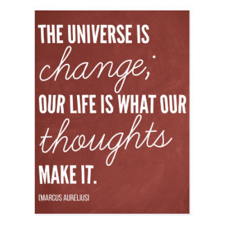 '...Our life is what our thoughts make it' Quote Postcard