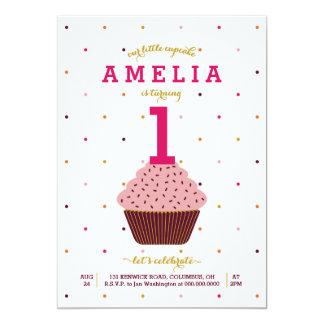 Our Little Cupcake Birthday Invitation