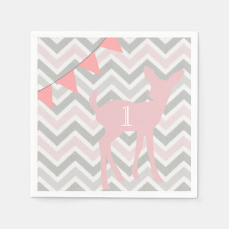 Our Little Doe is Turning ONE! Birthday Napkins Paper Napkin
