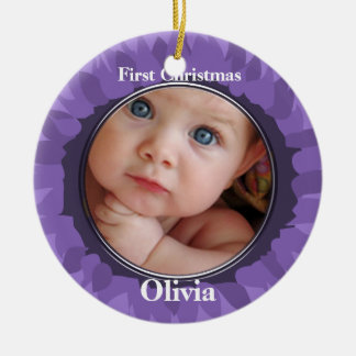 Our Little Gerber Baby Photo Ornament -Grape