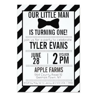 Our Little Man Bowtie Birthday Invitation