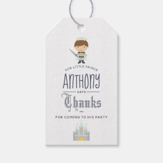 Our Little Prince Birthday Party Guest Favor Gift Tags