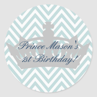 Our Little Prince is turining 1 Birthday Sticker