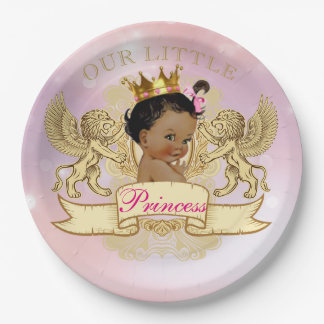 Our Little Princess African American Plate