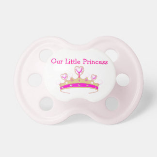 Our Little Princess Tiara Crown Girly Pink Name Baby Pacifier