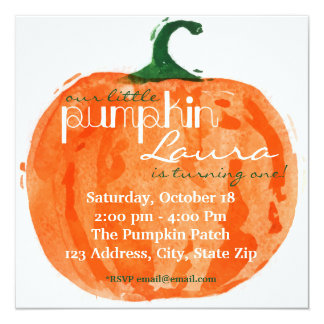 Our Little Pumpkin Invitation