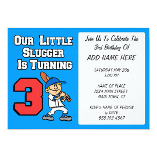 Our Little Slugger Is Turning Three Card