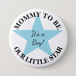 Our Little Star, Its a Boy, Baby Shower Button
