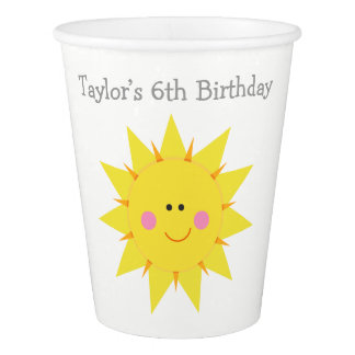 Our little Sunshine Birthday Paper Cup