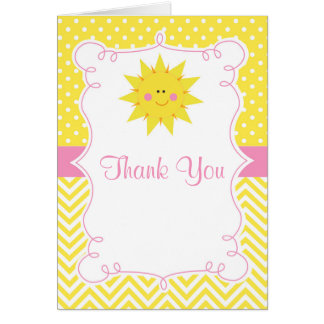 Our little Sunshine Birthday Thank You Card