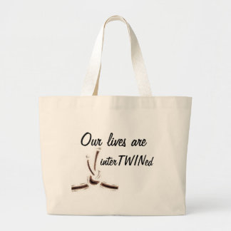 Our lives are interTWINed Canvas Bags