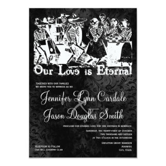Our Love is Eternal Skeleton Wedding Invitations