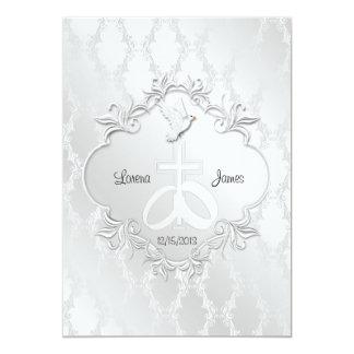 """Our Love Religious Wedding Invitation 5"""" X 7"""" Invitation Card"""