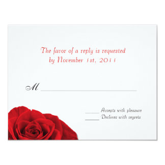 Our Love Rose ~ Wedding Reply / RSVP Cards