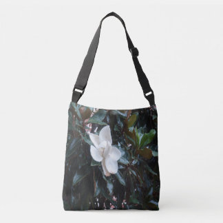 """Our Magnolia Tree After the Rain"" Cross Body Tote"
