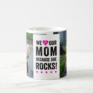 Our Mom Rocks Photo Mug