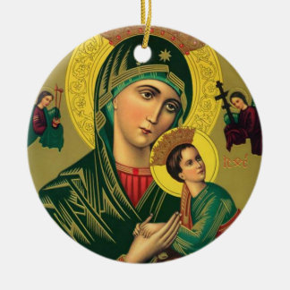 Our Mother of Perpetual Help Jesus Ceramic Ornament