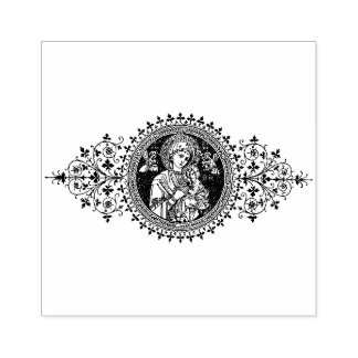 Our Mother of Perpetual Help Rubber Stamp