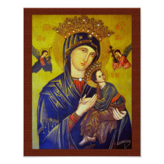 OUR MOTHER OF PERPETUAL HELP SACRED IMAGE POSTER