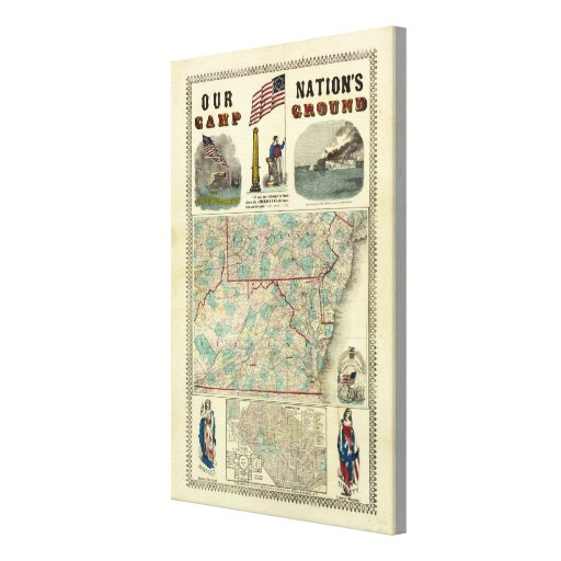 Our Nation's Camp Ground Gallery Wrapped Canvas