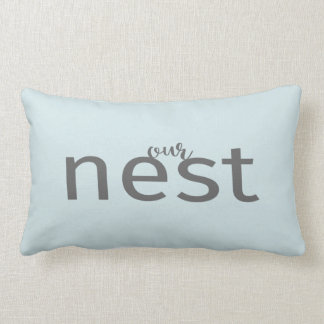 Our Nest Gray Type Blue Modern Farm Style Pillow