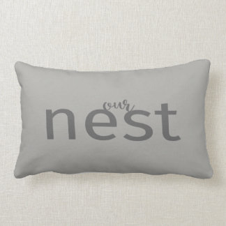 Our Nest Simple Gray Modern Farm Style Pillow