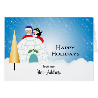 Our New Address Christmas Card