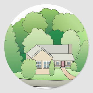 Our New Home Classic Round Sticker