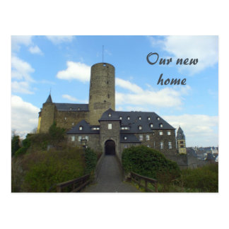 Our new home - We ve moved castle cards Postcard