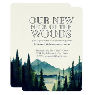 Our New Neck of the Woods Housewarming Party Card