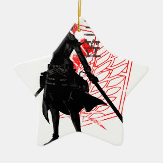 Our only hope warrior ceramic star ornament