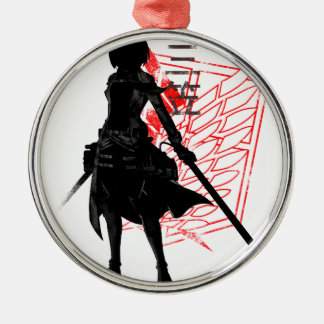 Our only hope warrior Silver-Colored round ornament