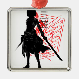 Our only hope warrior Silver-Colored square ornament