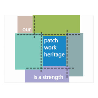 Our Patchwork Heritage is a Strength Postcard