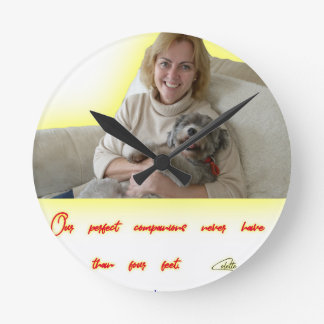 Our Perfect Companions Round Clock