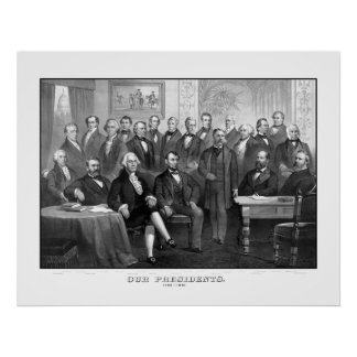 Our Presidents 1789 - 1881 Poster