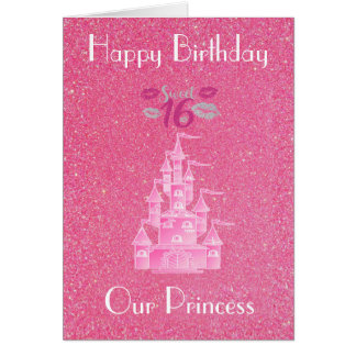 OUR PRINCESS DAUGHTER GREETING CARD