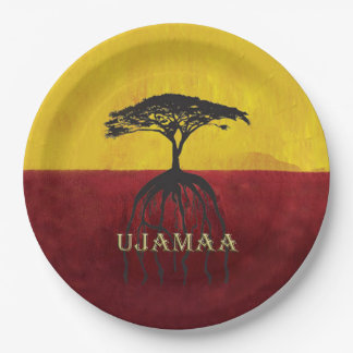 Our Roots Run Deep Kwanzaa Party Paper Plates