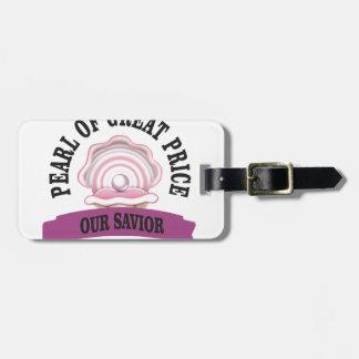 our savior fun luggage tag