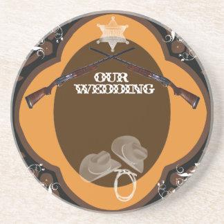 Our ShotGun Wedding Beverage Coaster