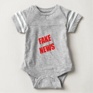 Our society is dominated by fake news baby bodysuit