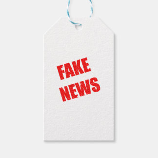 Our society is dominated by fake news pack of gift tags
