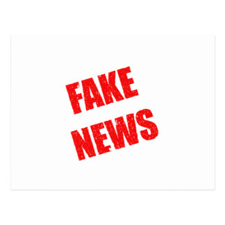 Our society is dominated by fake news postcard