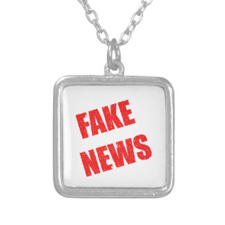 Our society is dominated by fake news silver plated necklace