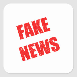 Our society is dominated by fake news square sticker