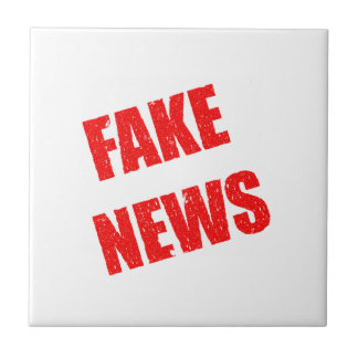 Our society is dominated by fake news tile