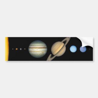Our solar system bumper sticker