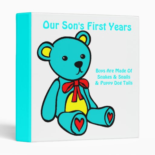 Our Son's First Years- Designer Binder / Baby Book